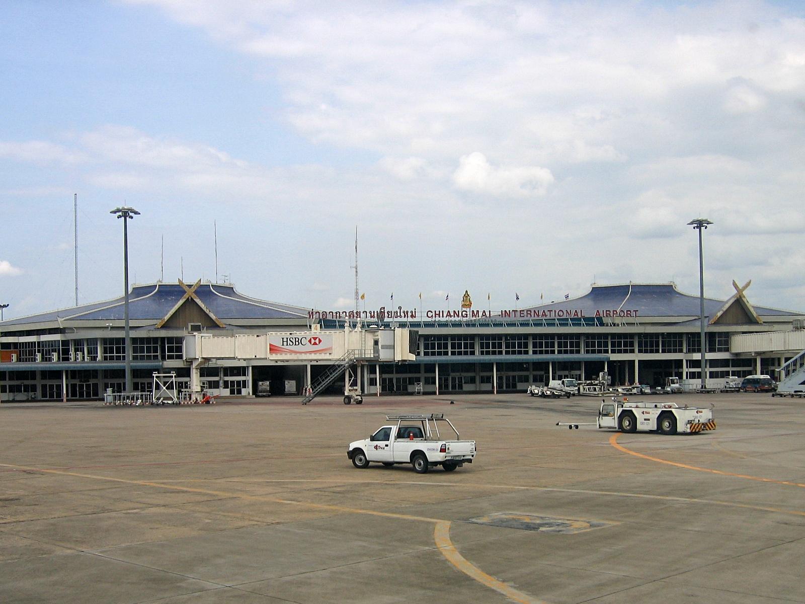 Vue sur l'aéroport international de Chiang Mai