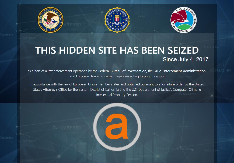 Le site AlphaBay a été saisi et fermé par les autorités américaines le 4 juillet