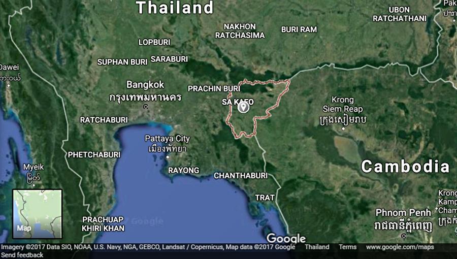 La province de Sa Kaeo à l'est de la Thaïlande, frontalière avec le Cambodge