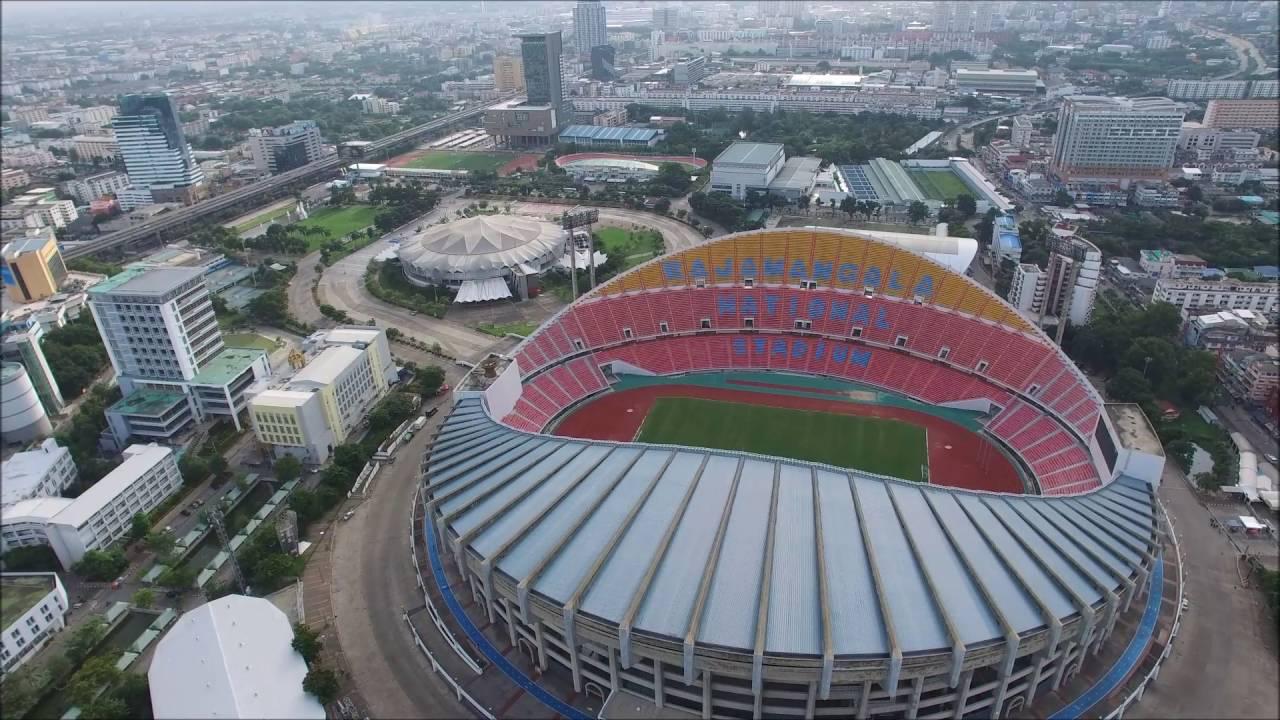 Le stade national Rajamangala, situé à l'est de Bangkok, Thaïlande