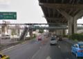 Photo de la rampe d'accès à l'aéroport Don Mueang de Bangkok provisoirement fermée