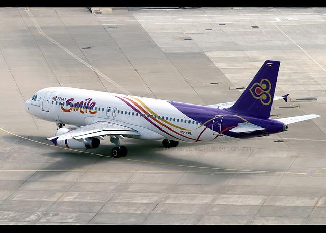 Un Airbus A320 de la compagnie aérienne THAI Smile