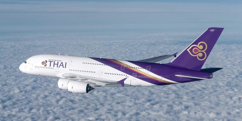 Un Airbus A380 de la compagnie aérienne nationale THAI Airways