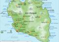 Carte de l'île de Koh Pha Ngan en Thaïlande