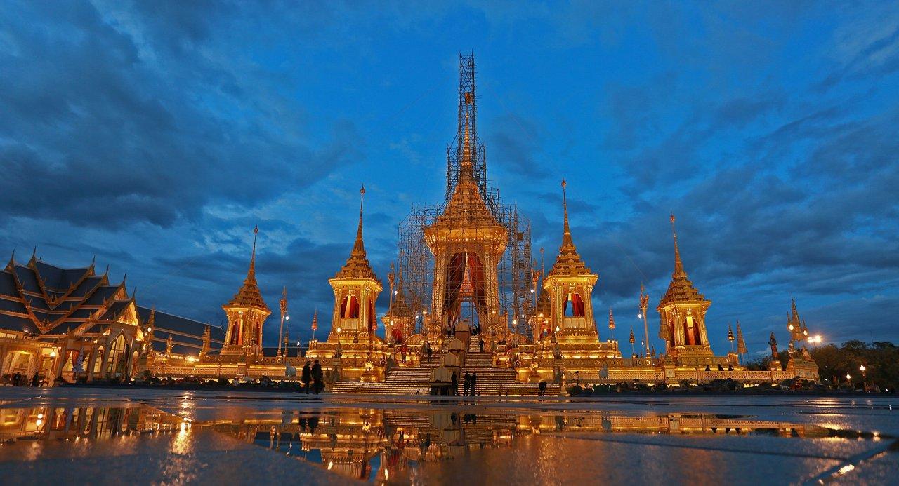 Le Crématorium Royal sur Sanam Luang à Bangkok