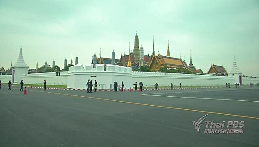 Quarante-deux routes autour de Sanam Luang seront fermées à la circulation entre le 23 et le 26 octobre
