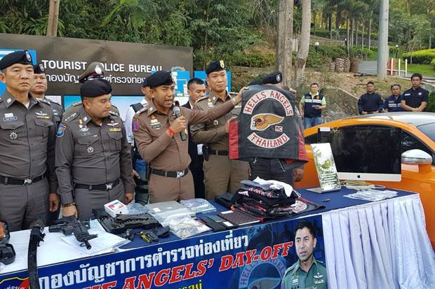 La police a arrêté 4 membres présumés des Hells Angels à Pattaya