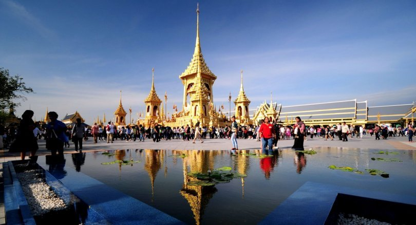 Environ 4 millions de personnes ont visité le Crématorium Royal de Sanam Luang à Bangkok