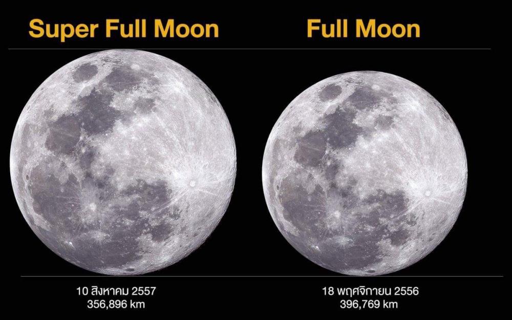 Une super lune sera visible à travers la Thaïlande la nuit du mardi 2 janvier 2018