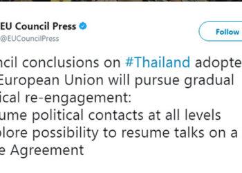 L'UE veut Rétablir des Contacts Officiels avec la Thaïlande