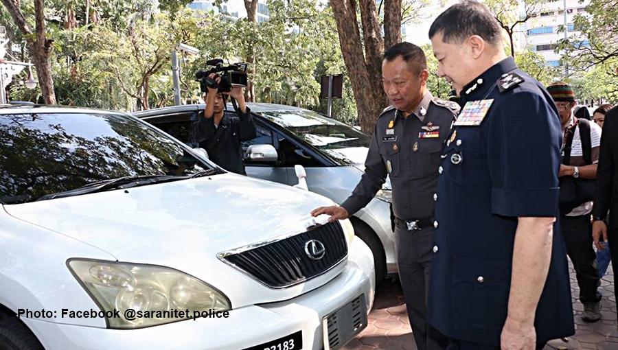 Vingt voitures volées et entrées illégalement sur le territoire thaïlandais ont été remises à la Malaisie