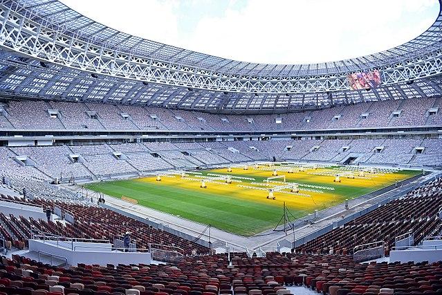 Le Stade Loujniki de Moscou, qui accueillera le match d'ouverture de la Coupe du Monde 2018 en Russie