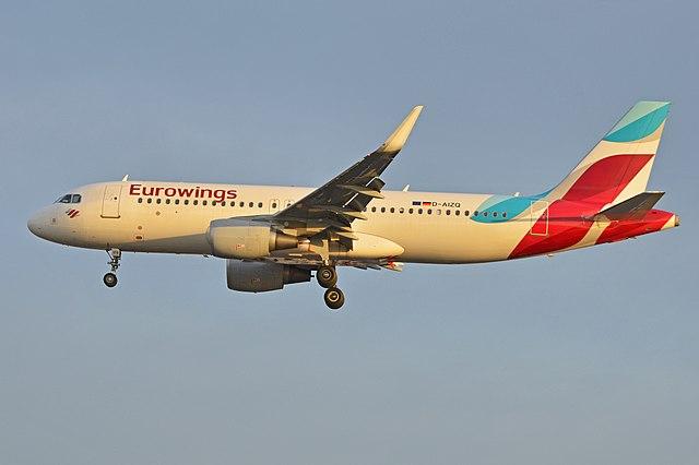 Un Airbus A320 de la compagnie allemande Eurowings