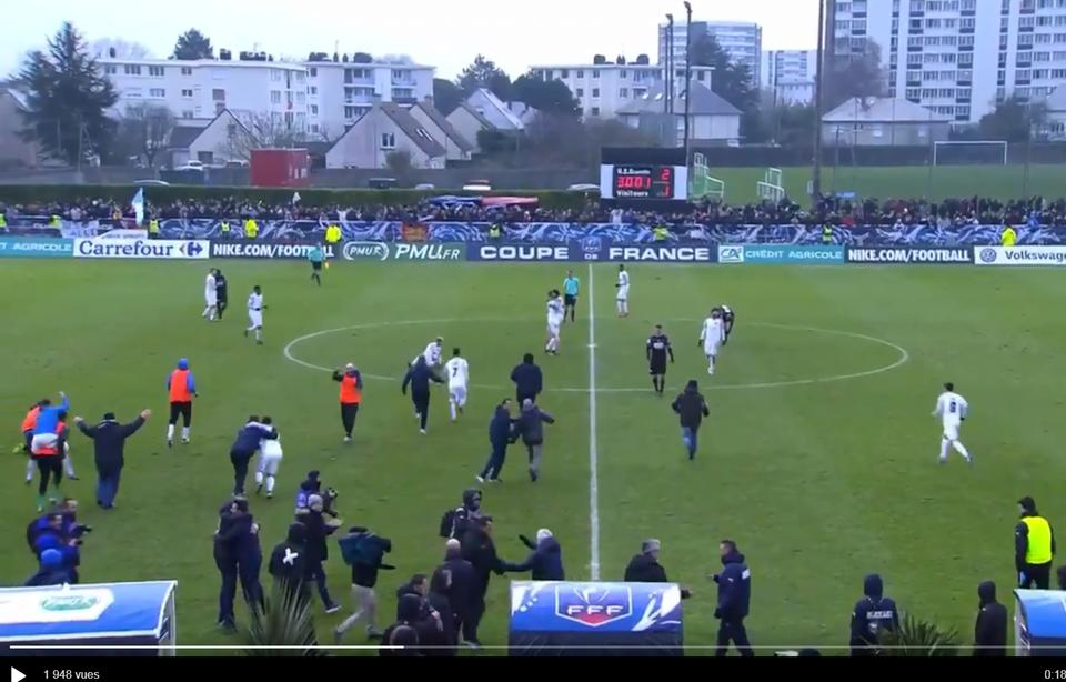 L'équipe de Granville a éliminé Bordeaux en 32es de finale de la Coupe de France