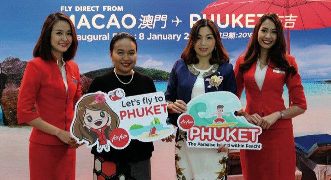 La compagnie aérienne AirAsia a officiellement débuté sa nouvelle liaison entre Macao et Phuket