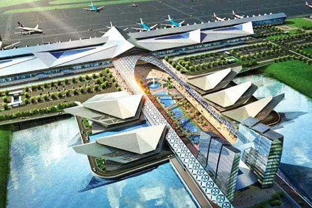 Une représentation du nouvel aéroport de la capitale du Cambodge, Phnom Penh