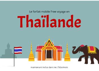 Free ajoute la Thaïlande à ses 25Go de roaming mensuel