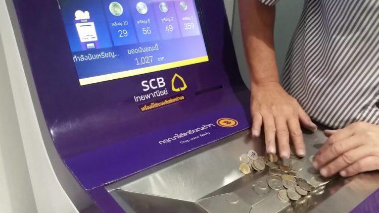 La banque SCB a lancé une machine permettant de déposer ses pièces de monnaie directement sur son compte
