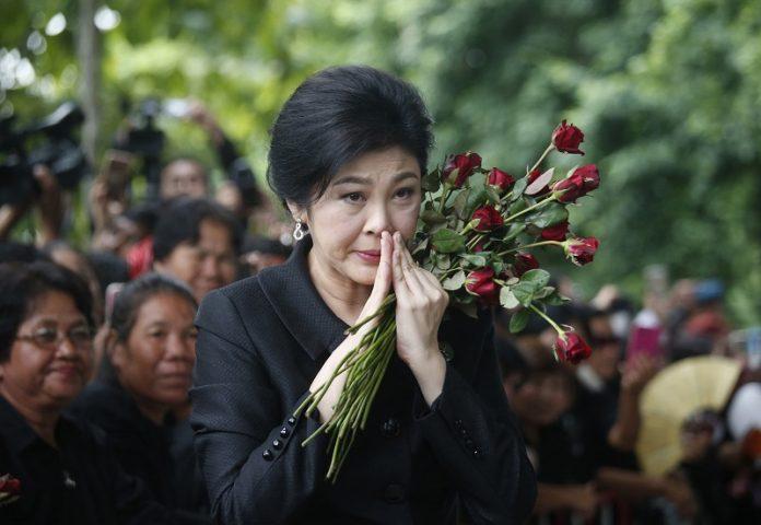 L'ancienne Premier Ministre, Yingluck Shinawatra, lors de son arrivée à la Cour Suprême en juillet dernier