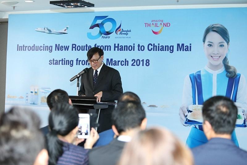 La compagnie aérienne thaïlandaise Bangkok Airways ouvrira prochainement une nouvelle ligne entre Chiang Mai et Hanoï