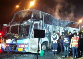 Tak : 21 victimes dans l'incendie d'un autocar