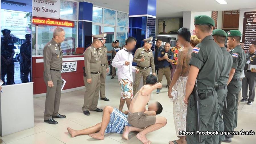7 jeunes ont été arrêtés dans la province de Nakhon Ratchasima après une agression survenue pendant Songkran