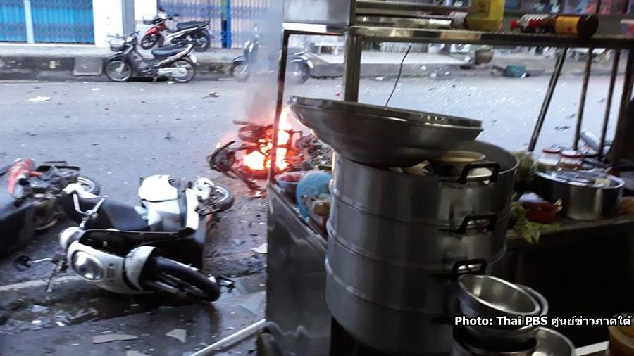 Plusieurs personnes ont été blessées dans trois explosions survenues dans la province de Narathiwat