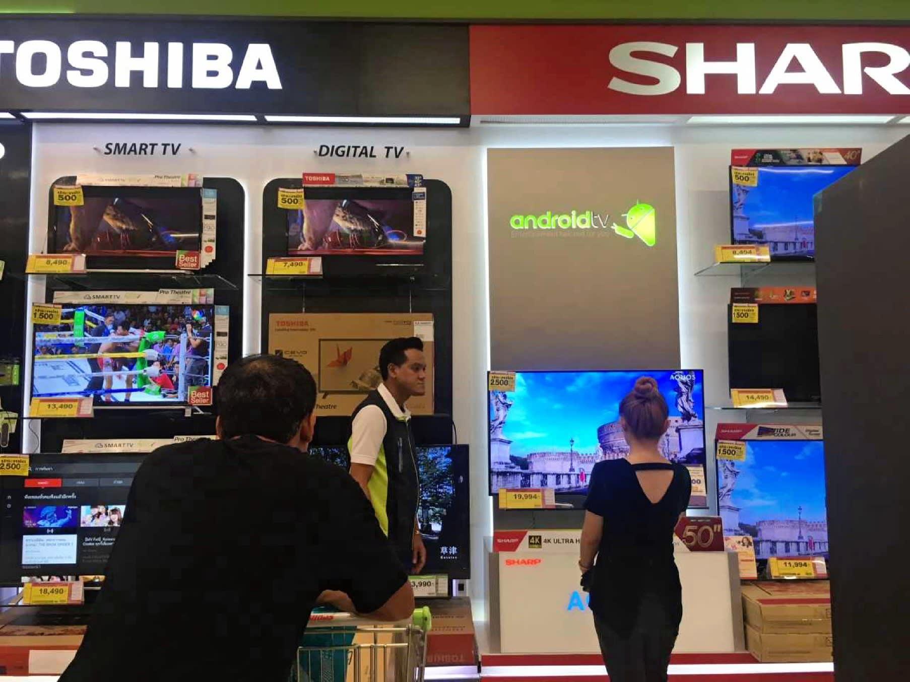 Les magasins de produits électroniques thaïlandais s'attendent à une ruée d'achats de téléviseurs quelques jours avant le 14 juin, date du début de la Coupe du Monde en Russie