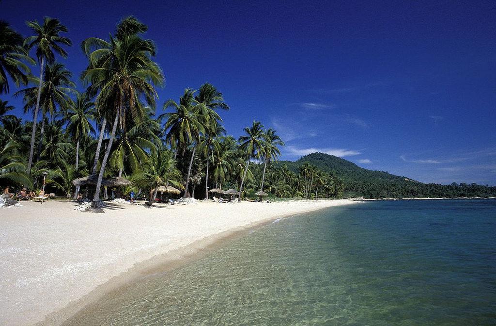 La plage de Chaweng Beach, sur l'île de Koh Samui, dans la province de Surat Thani)