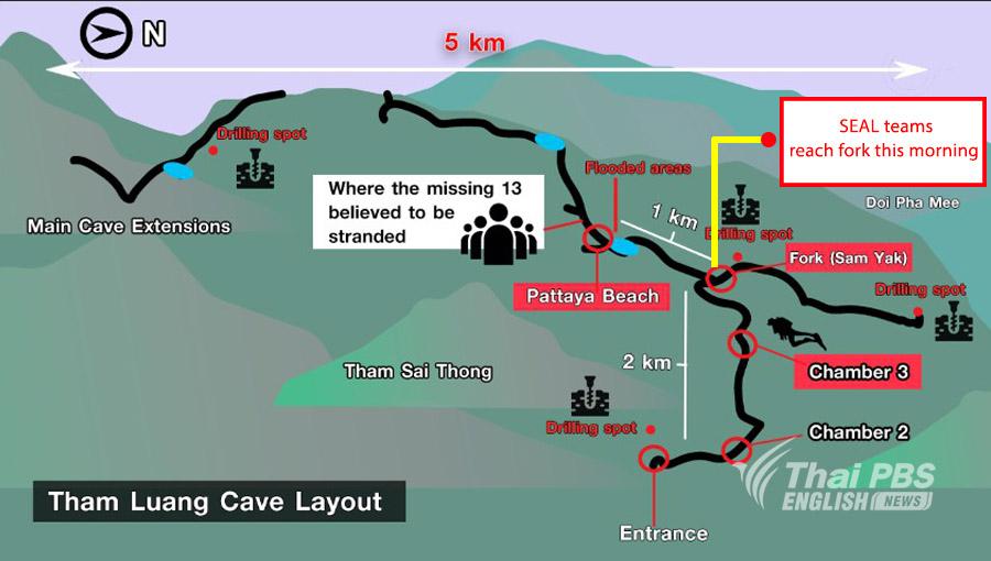 Au neuvième jour de la mission de sauvetage des douze enfants et de leur entraîneur coincés dans une grotte en Thaïlande, les autorités ont annoncées que les secours progressaient