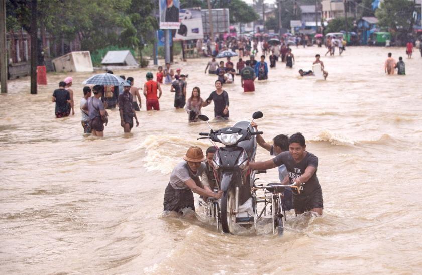 Les populations du sud de la Birmanie ont été sévèrement touchées par mes inondations causées par la mousson