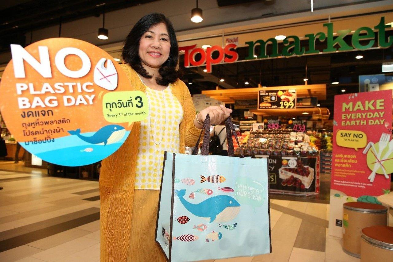 Les supermarchés Tops souhaitent mettre en place une journée mensuelle sans sacs plastiques en Thaïlande