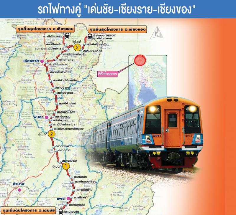 Le Gouvernement a validé le projet de ligne ferroviaire à double voie dans le nord de la Thaïlande