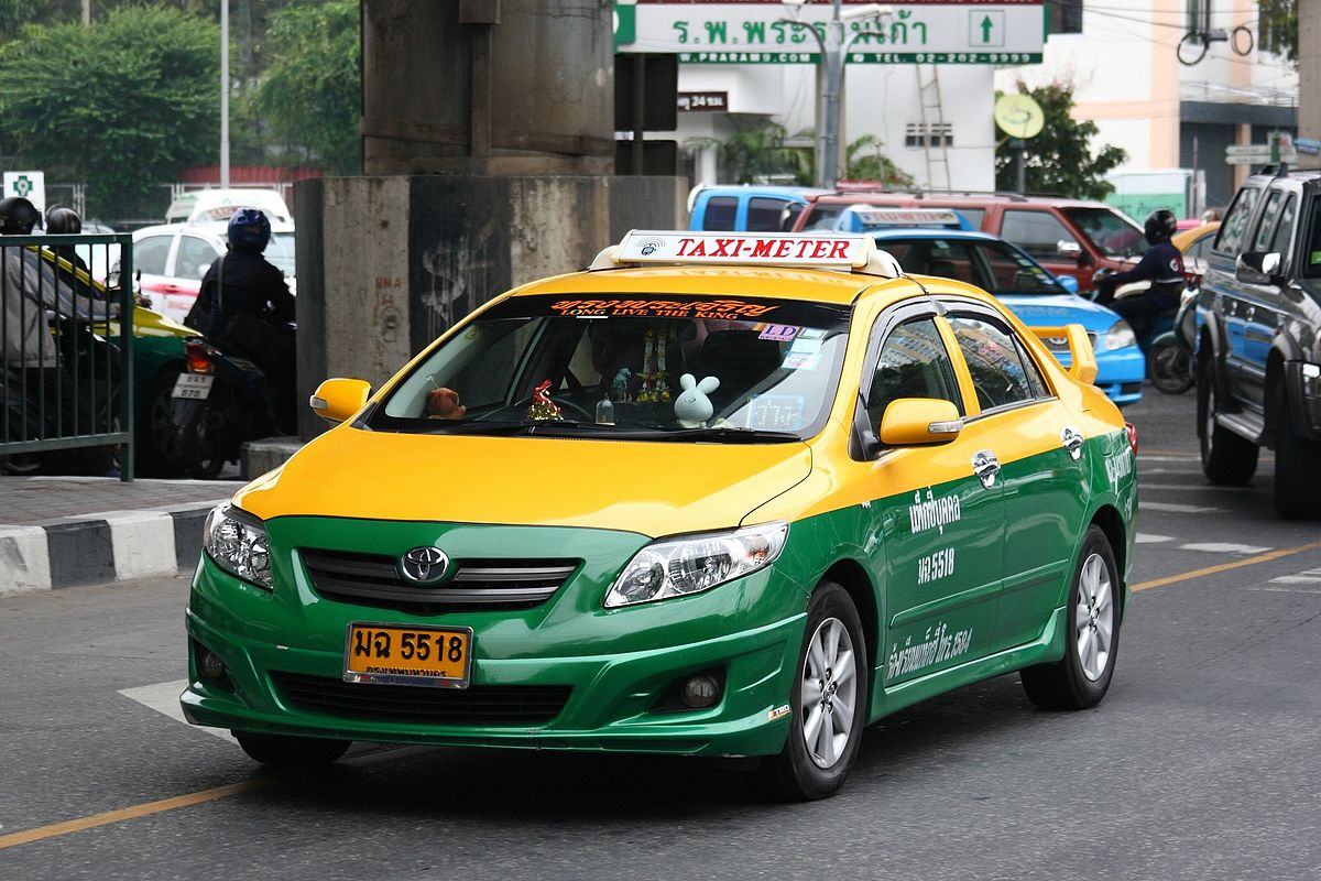 Taxi dans les rues de Bangkok