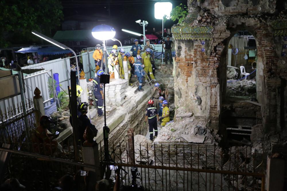 Bangkok : 11 blessés après l'effondrement d'une ancienne pagode