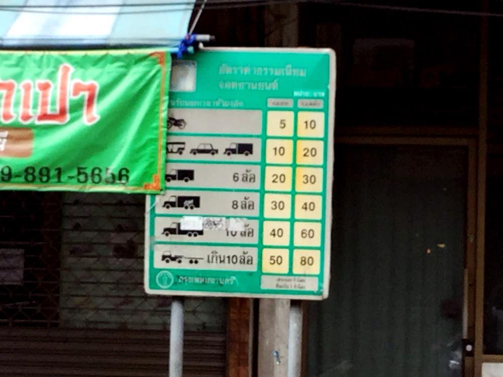 Le stationnement de 66 rues de Bangkok sera désormais payant