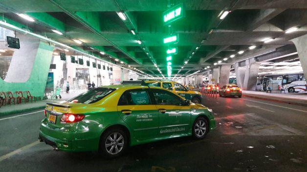 Aéroport de Bangkok Suvarnabhumi, zone désignée pour les taxis