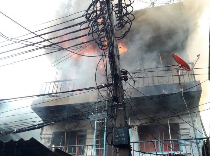 L'incendie de la Thai Green Guest House, au cours duquel trois personnes ont été blessées