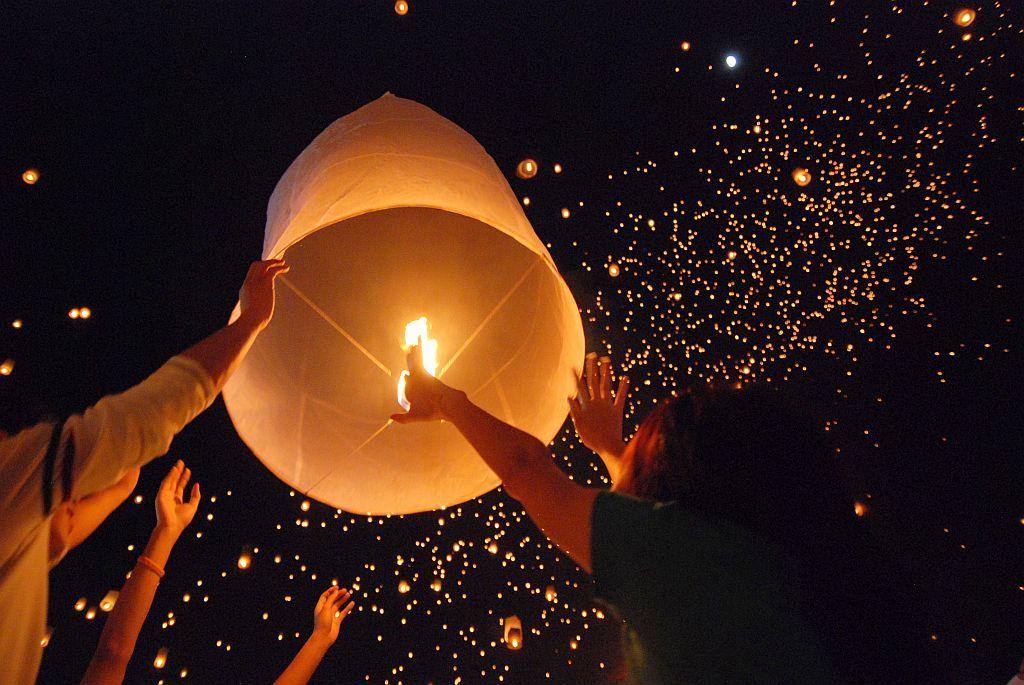 """Pendant le """"festival des lanternes"""" qui aura lieu la semaine prochaine à Chiang Mai, de nombreux vols seront annulés ou reprogrammés"""