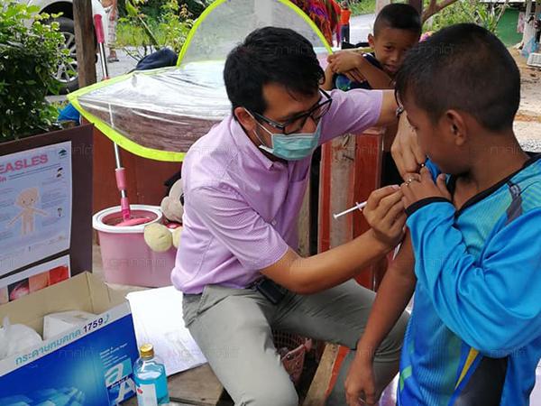 Trois provinces du sud de la Thaïlande font actuellement face à une augmentation importante des cas de rougeole