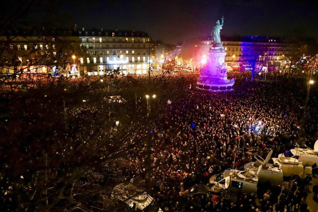 Rassemblement contre l'antisémitisme, 20000 personnes présentes à Paris