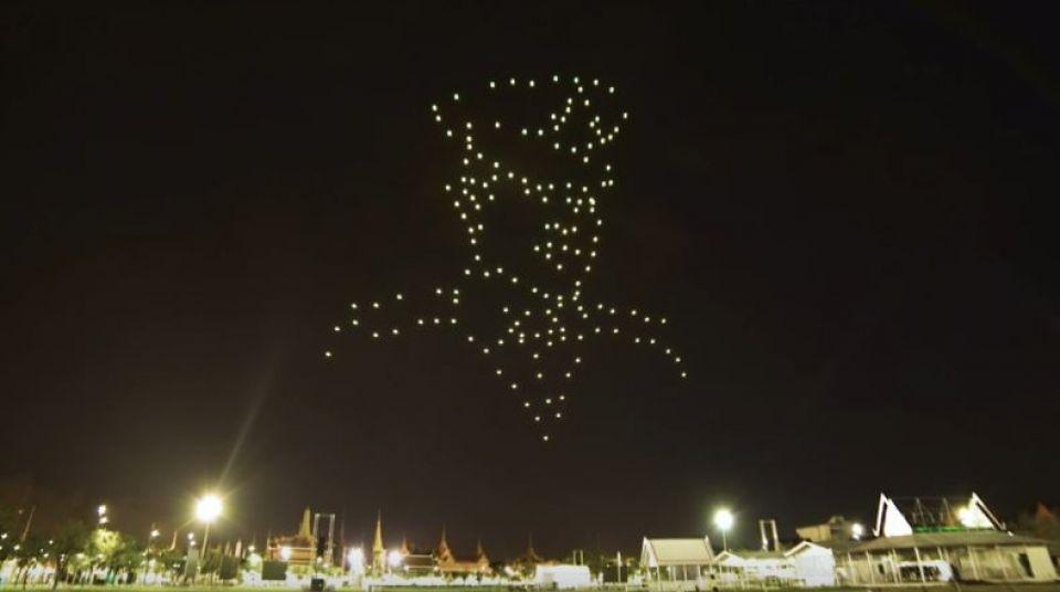 Couronnement du Roi de Thaïlande : un spectacle de drones à Sanam Luang dimanche et lundi soir