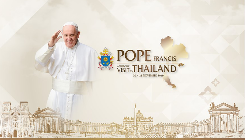 Pope Francis' visit to Thailand will take place from November 20 to 23