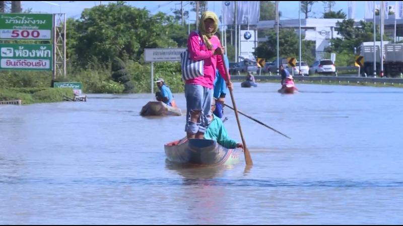 Severe floods continue to hit northeastern Thailand