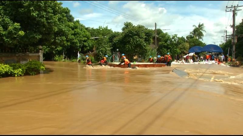 The floods continue in northeastern Thailand