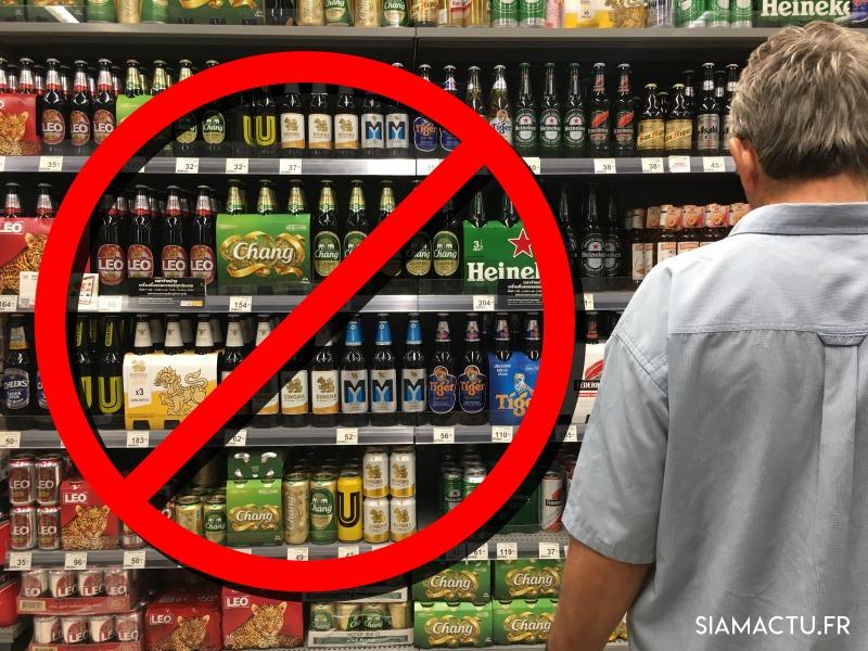 Vente d'alcool interdite les 16 et 17 juillet en Thaïlande